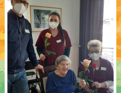 Rosen für Mitarbeiterinnen und Bewohnerinnen