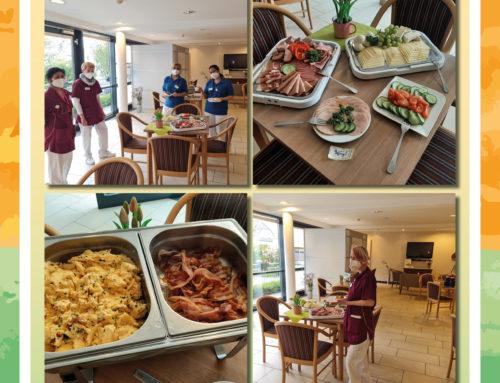 Mitarbeiterfrühstück in der MediCare Seniorenresidenz Am Wiehengebirge