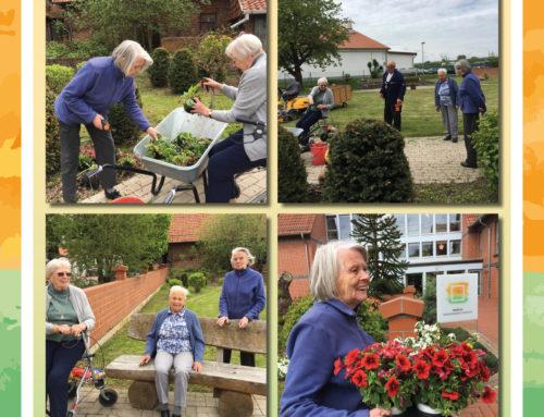 Neue Blumen für die Seniorenresidenz Lehnstuhl